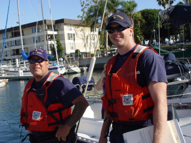 Proud members of the U.S. Coast Guard at Marina del Rey, California - Click for larger image (http://jamesmcgillis.com)