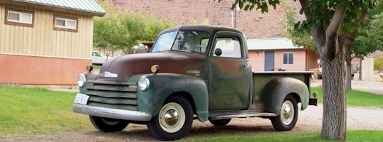 This 1951 Chevrolet 3100 pickup truck epitomizes the spirit of old Moab, Utah